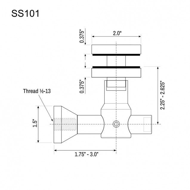 Glass Panel Bracket SS101