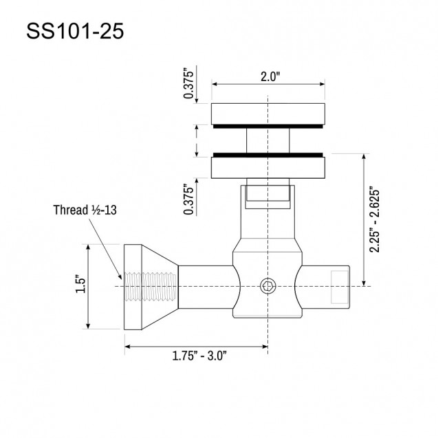Glass Panel Bracket SS101-25