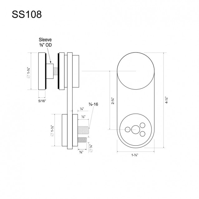 Glass Panel Bracket SS108