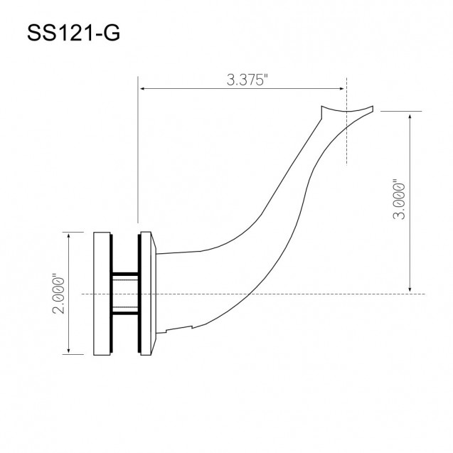 Handrail Support SS121-G